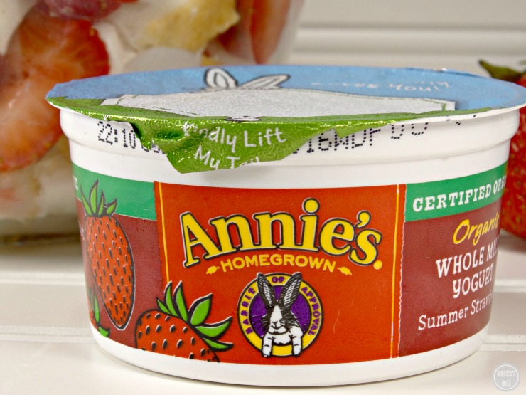 Angel Food Strawberry Yogurt Trifle with Annies