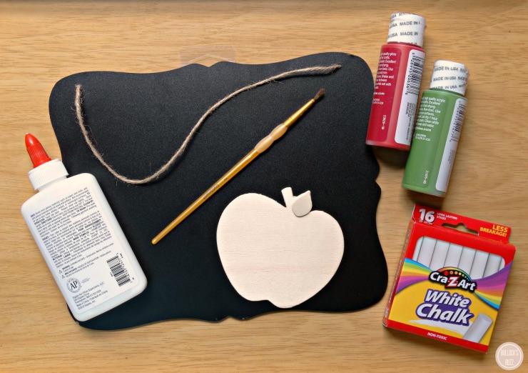 DIY teacher chalkboard teacher Appreciation Gift Teacher Chalkboard and Apple supplies needed