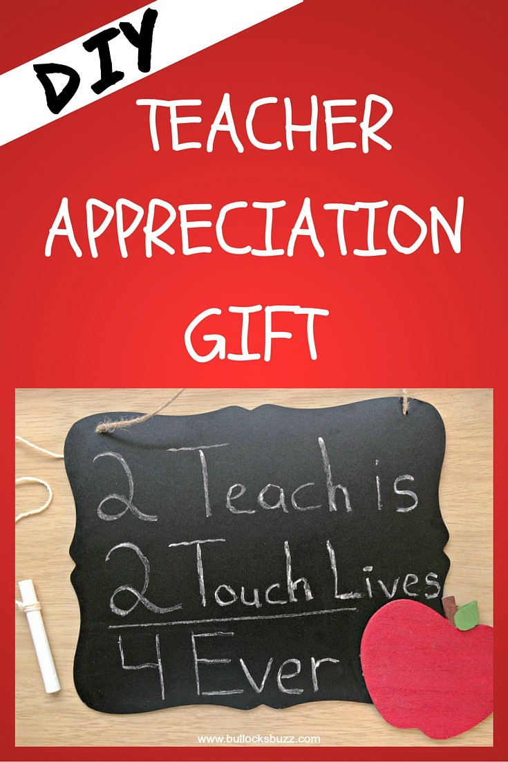 DIY teacher chalkboard teacher Appreciation Gift main image1