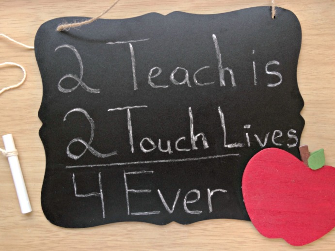 DIY Teacher Chalkboard teacher DIY teacher appreciation gift