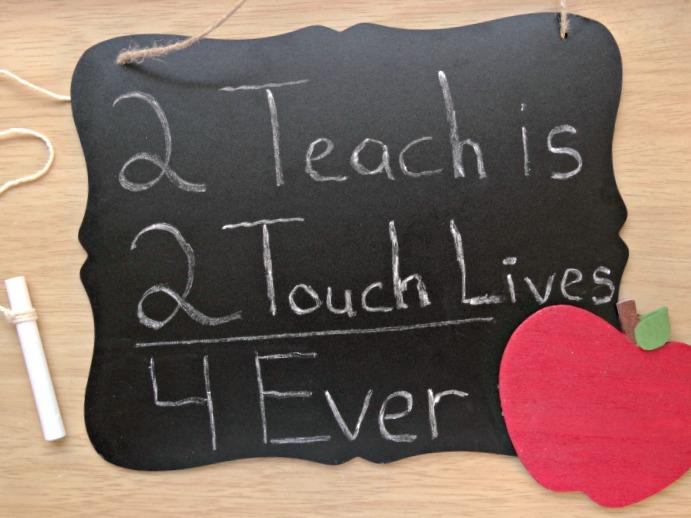 DIY Teacher Chalkboard teacher DIY teacher appreciation gift