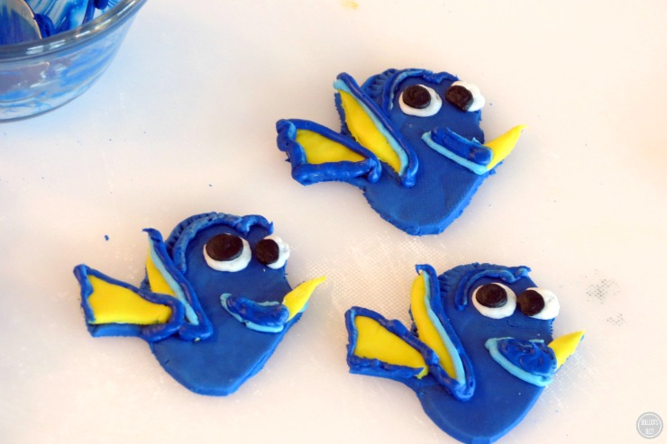 Finding Dory Chocolate Covered Waffle Bowl In-Process photo #5