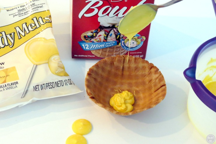 Finding Dory Chocolate Covered Waffle Bowl In-Process photo #6