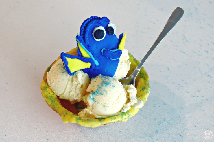 Finding Dory Chocolate Covered Waffle Bowl In-Process photo#12