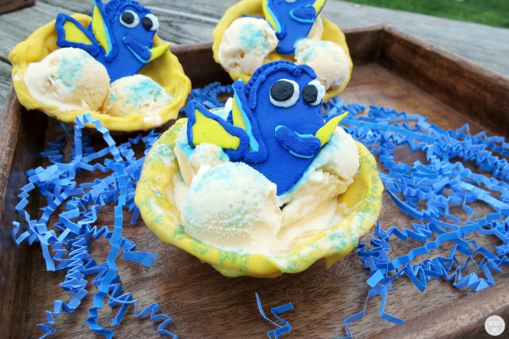 Finding Dory Chocolate Covered Waffle Bowls 1