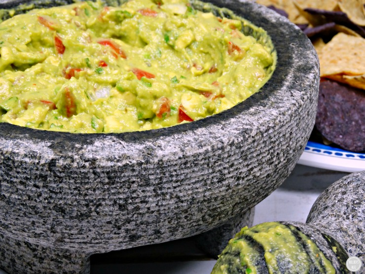 Guacamole with IMUSA Molcajete and tejolote mortar and pestle cinco de mayo season main 2