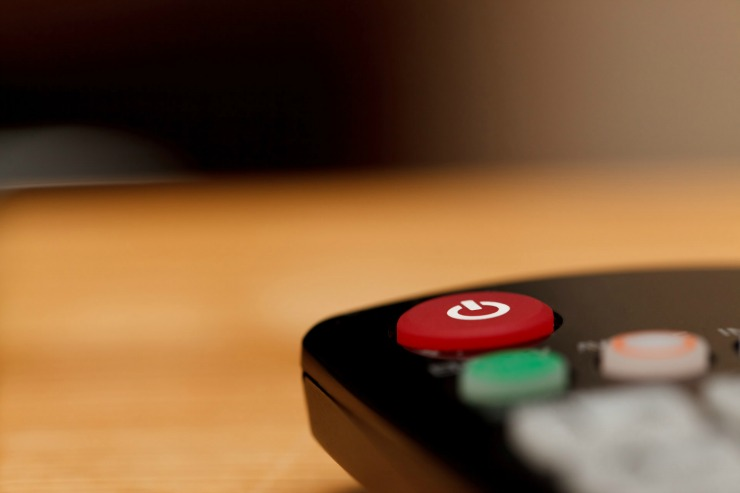 How To Make Your Family Room More Eco-Friendly power-button-on-tv-remote