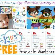 Kids Academy: New Singapore Math App + Free Printable Worksheets!