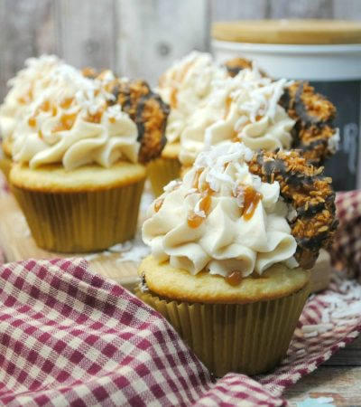 Samoa Cupcakes – Girl Scout Cookie Inspired Cupcakes