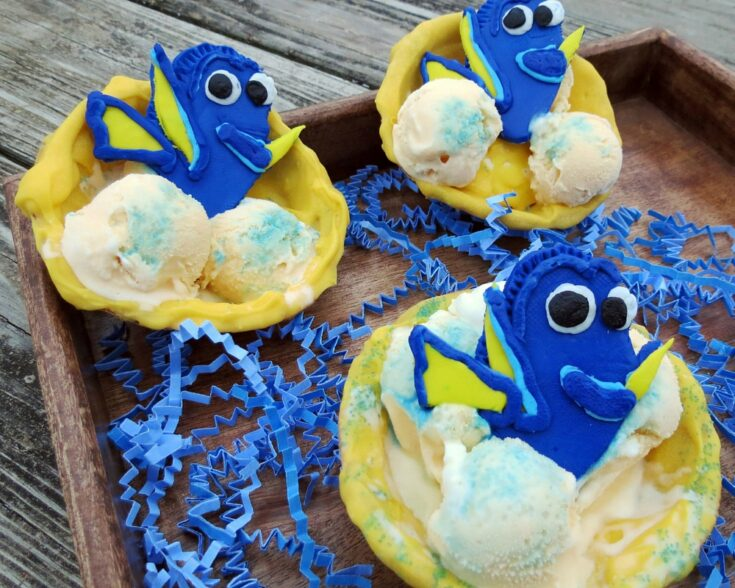 Finding Dory Chocolate Covered Waffle Bowls