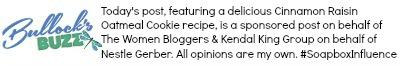 blog disclosure for cinnamon raisin oatmeal cookies post
