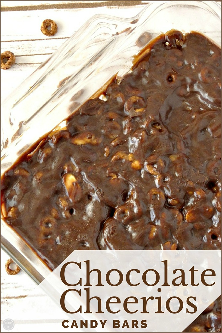Rich chocolate, creamy caramel and nutty peanut butter all cometogether to makethese quick and easy Gluten Free Chocolate Cheerios Candy Bars!
