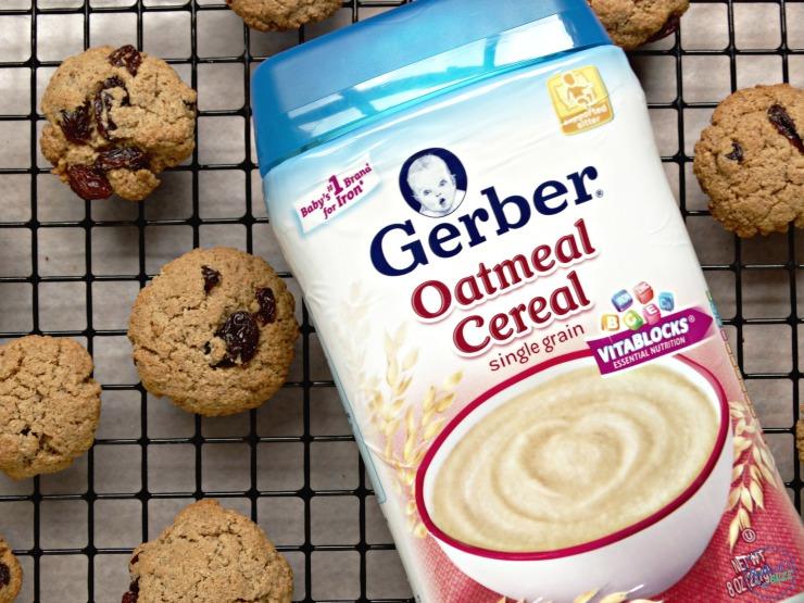 cinnamon raisin oatmeal cookies with gerber cereal image5