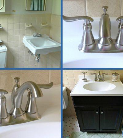 1960's Ranch Bathroom Update – Delta Linden™ Lavatory Faucet