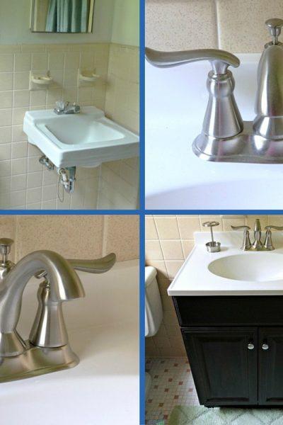 1960's Ranch Bathroom Remodel – Delta Linden™ Lavatory Faucet