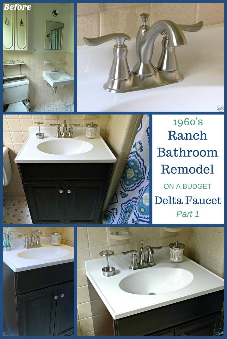 1960's Ranch Bathroom Remodel on a budget Delta Faucet part 1 main image