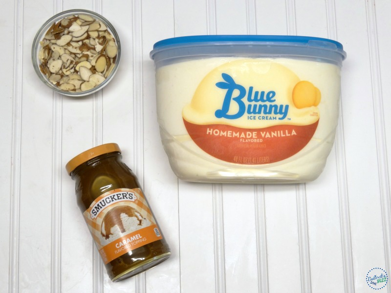 Caramel Almond Ice Cream Torte Blue Bunny needed ingredients