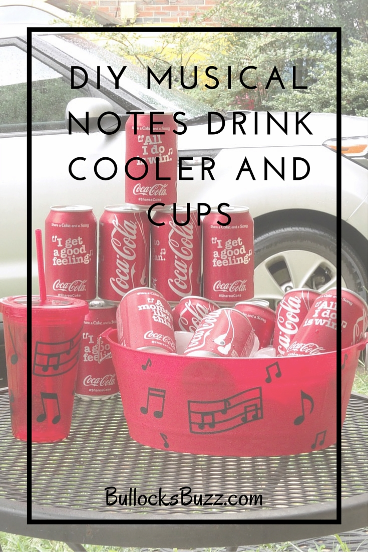 DIY Drink Cooler and Matching Cups main