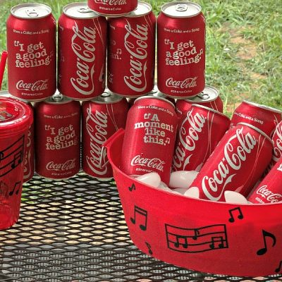 DIY Musical Notes Drink Cooler and Cups