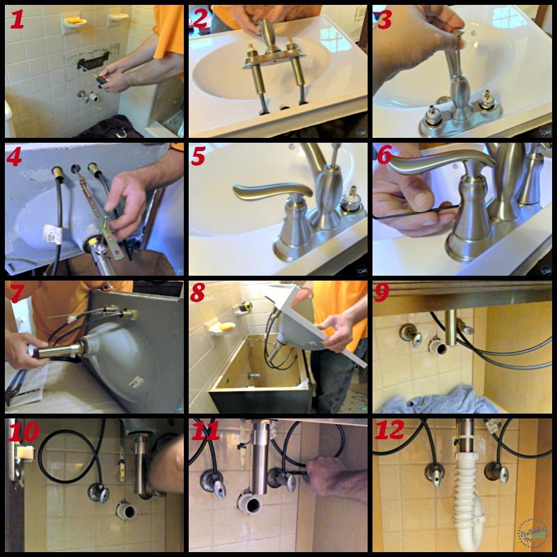 Delta Faucet master bath installation steps