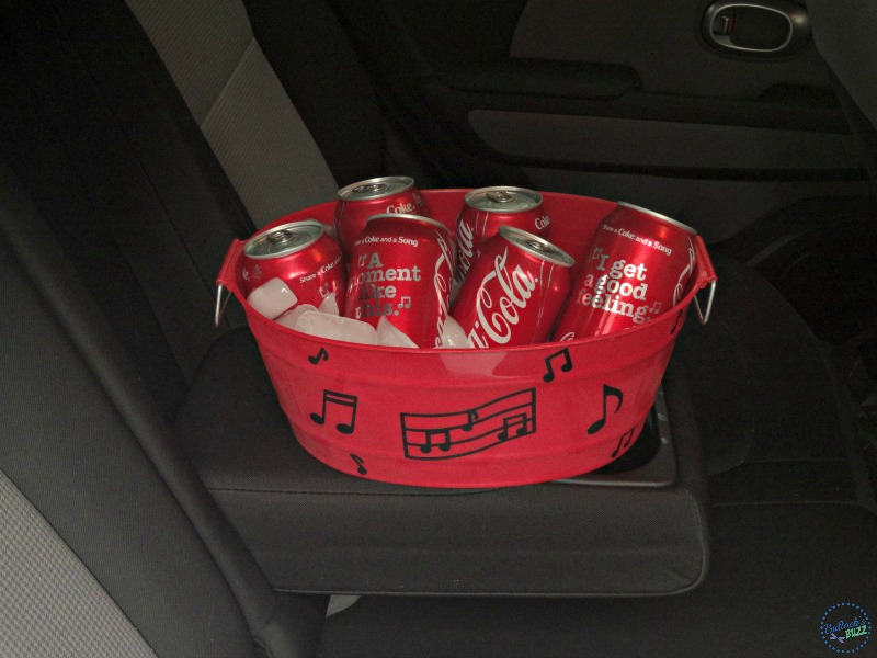diy drink cooler and matching cups Coca Cola Share a Song in car