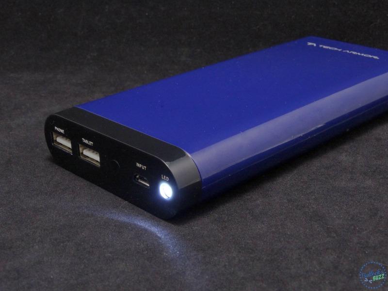 Tech Armor ActivePower 208000mAh External USB Power Bank flashlight