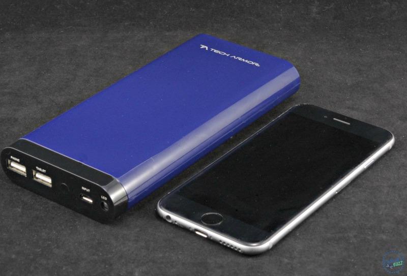 Tech Armor ActivePower 208000mAh External USB Power Bank size comparison