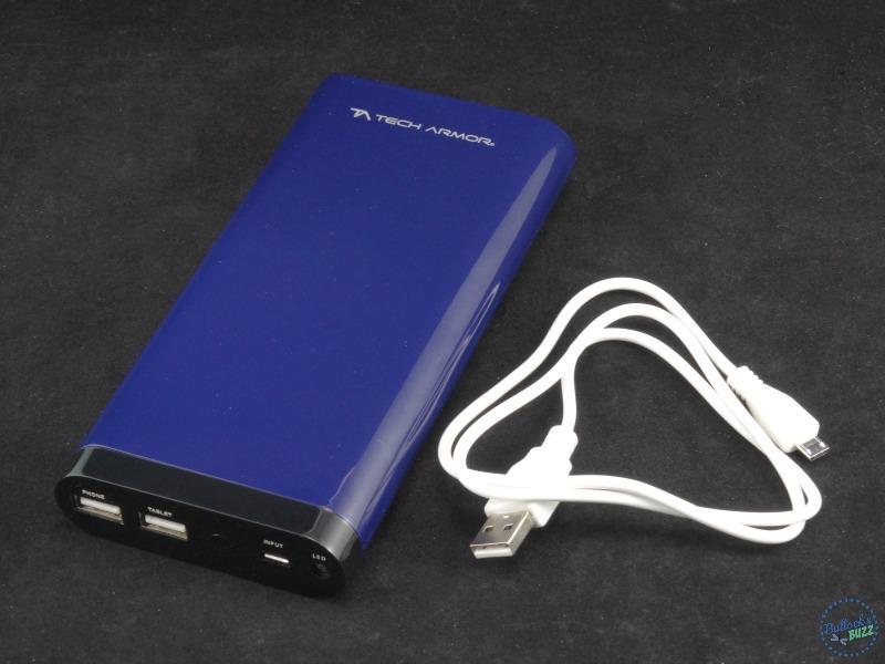 Tech Armor ActivePower 208000mAh External USB Power Bank top view