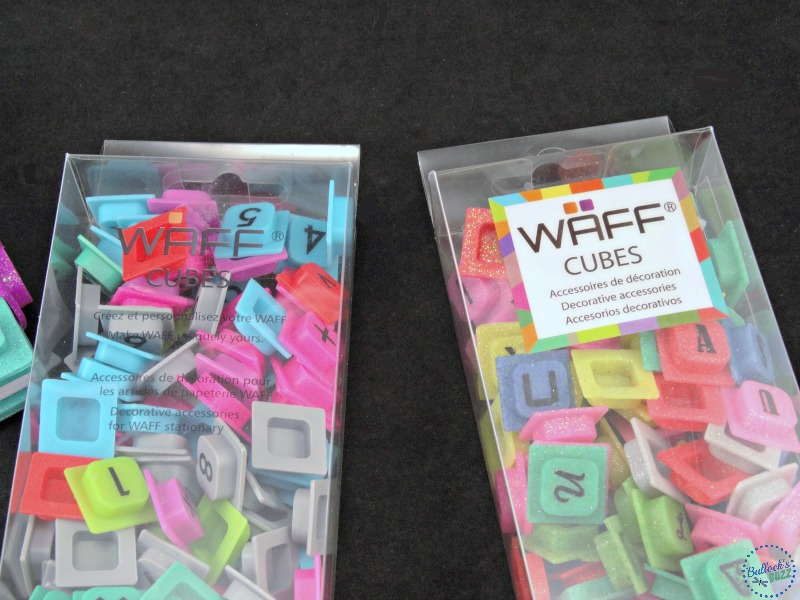 WAFF notebook and cubes both sets of cubes