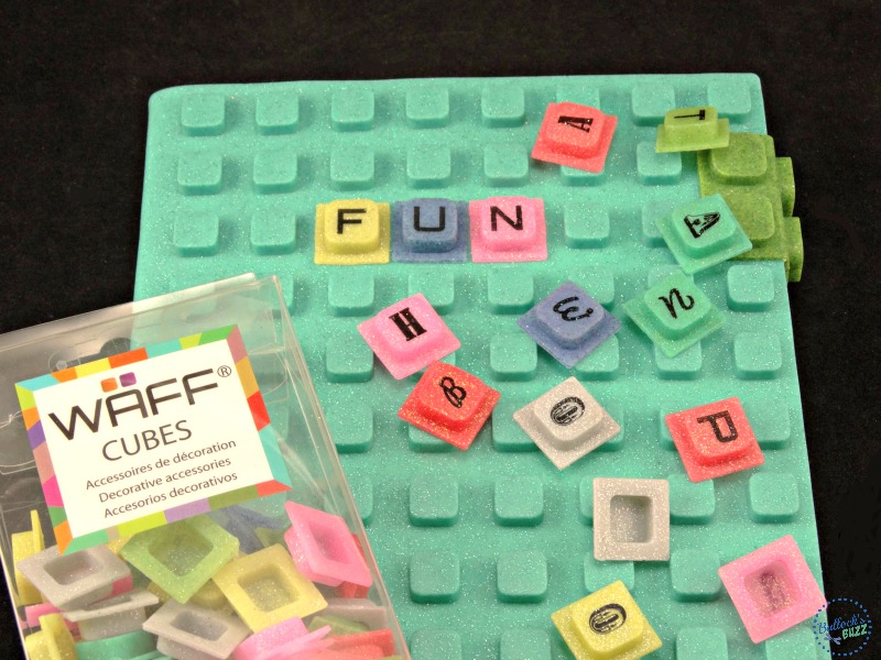WAFF notebook and cubes letter cubes
