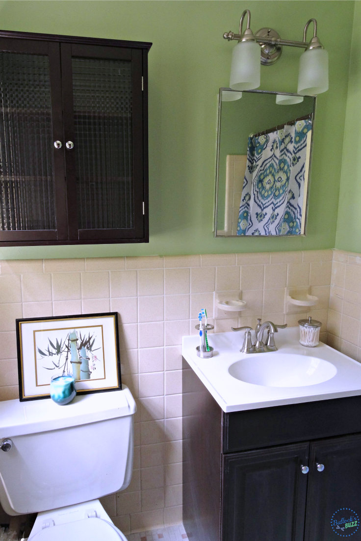 at home bathroom decor after image2 Decorating Small Spaces