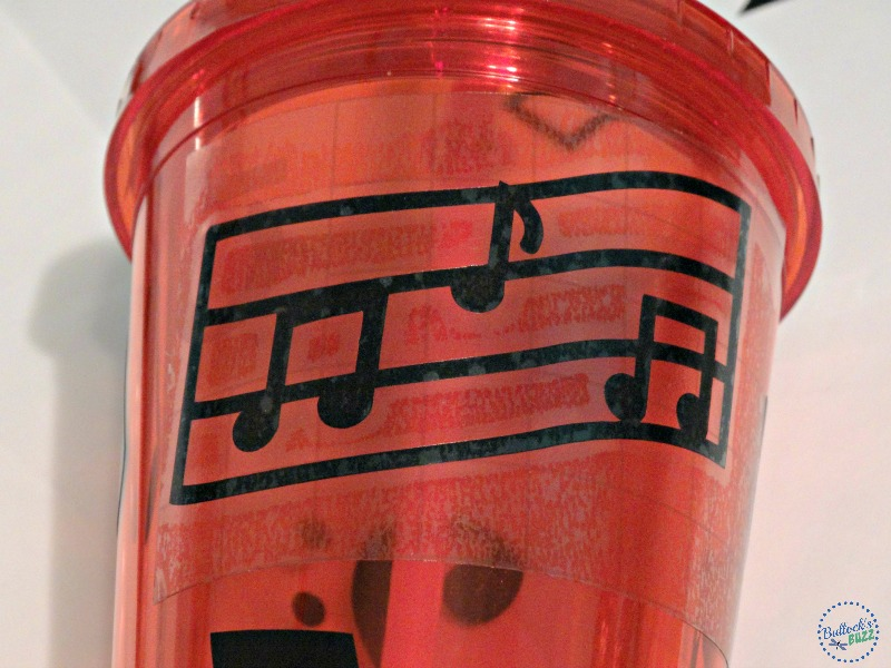 DIY Musical Not travel Cooler with matching cups make the cups