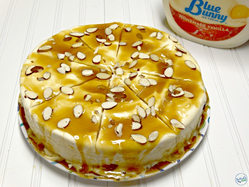 caramel almond vanilla ice cream torte add almonds