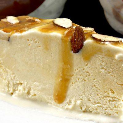 Caramel Almond Vanilla Ice Cream Torte