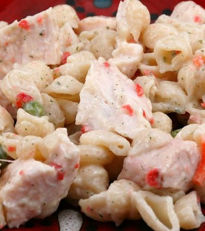 Leftover Grilled Chicken Ranch and Bacon Pasta Salad