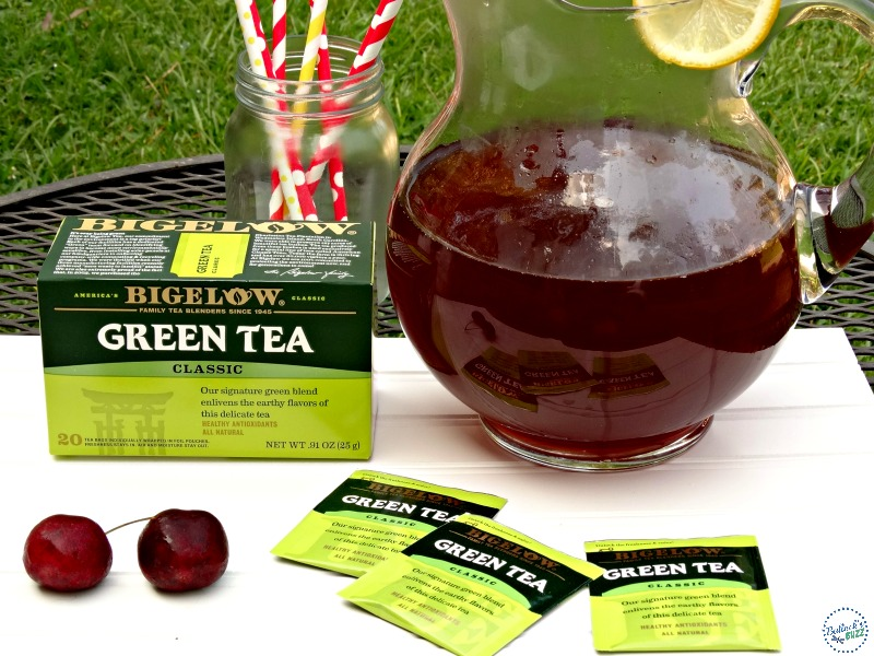 Cherry and Ginger Infused Green Tea bigelow tea with bags