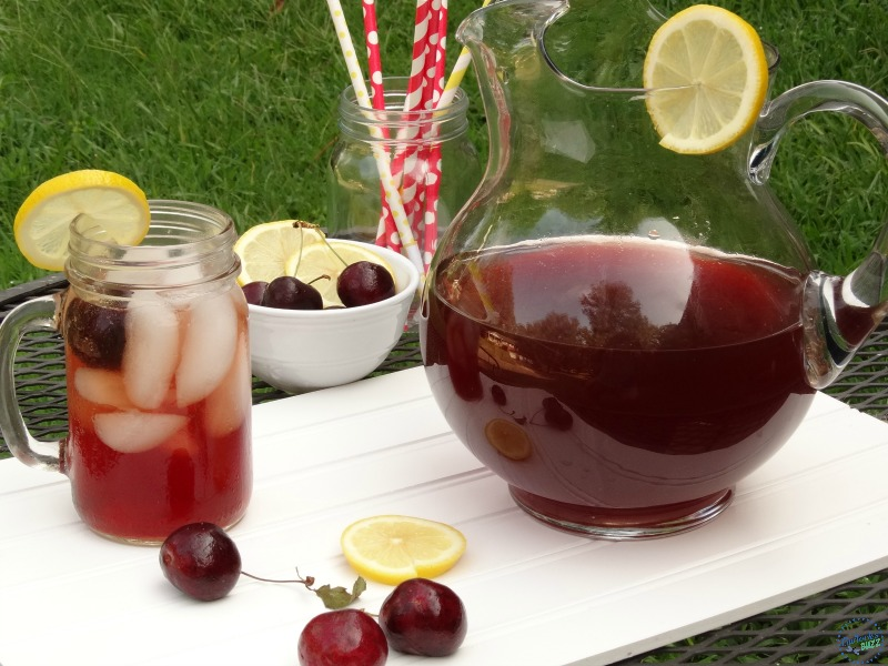 Cherry and ginger infused tea made