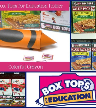 DIY Box Tops for Education Holder – Colorful Crayon