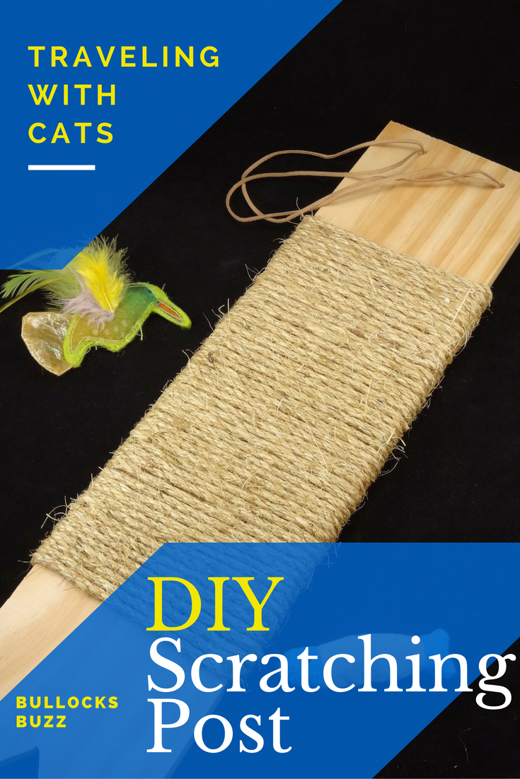 DIY scratching post traveling with cats main 3