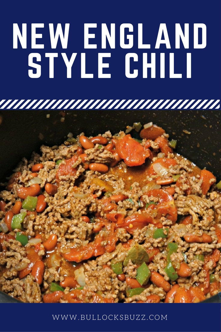 A delicious, award-winning New England style chili perfect for cold fall and winter nights!