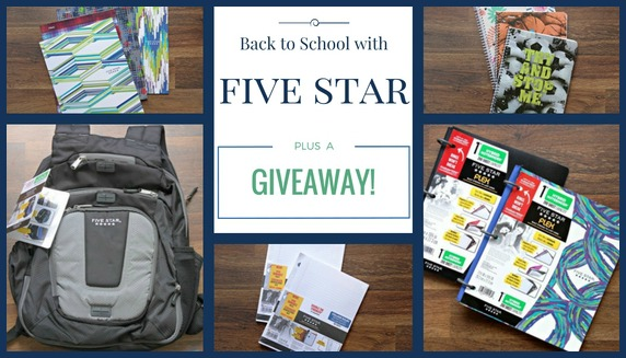 back to school with five star giveaway