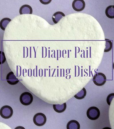 Ditch Diaper Pail Stink: DIY Deodorizing Diaper Pail Disks + Big Savings on Luvs Diapers! #ShareTheLuv