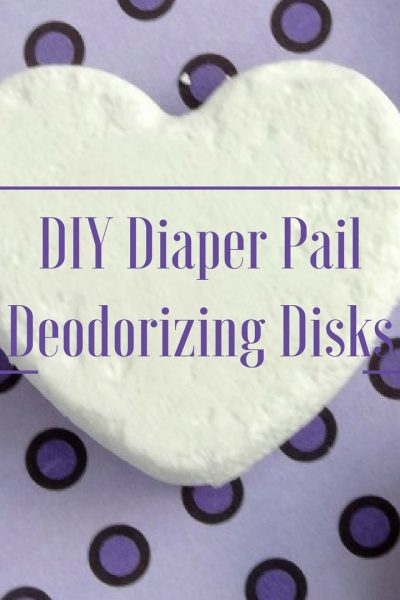 Ditch Diaper Pail Stink: DIY Deodorizing Diaper Pail Disks + Big Savings on Luvs Diapers! #ShareTheLuv