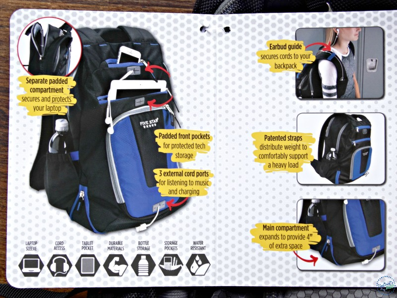 five star back to school ultimate tech backpack summary