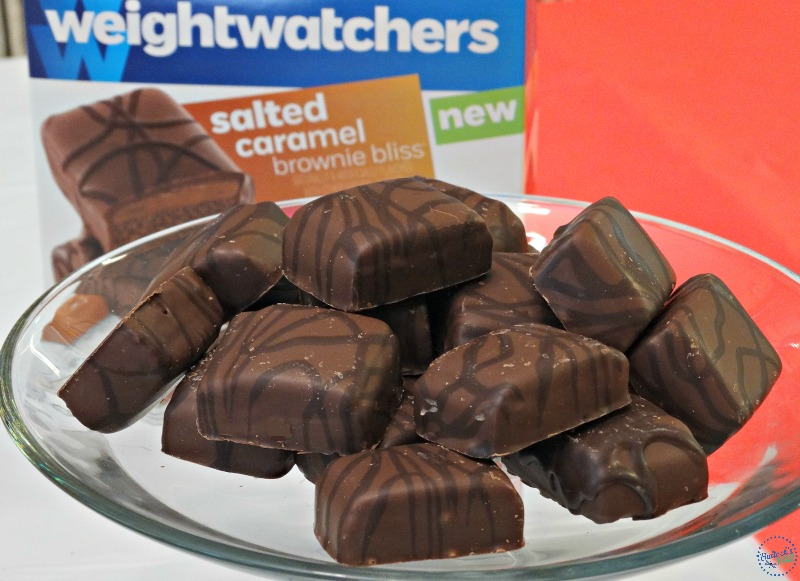 healthy snack ideas party snacks weight watchers salted caramel brownies bites 1