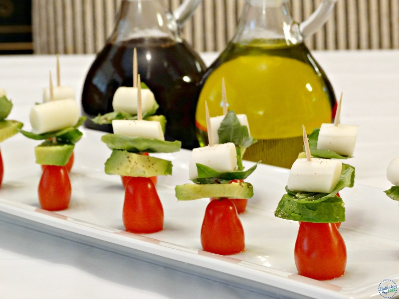 healthy snack ideas party snacks weight watchers tomato avacado mozarella bites2