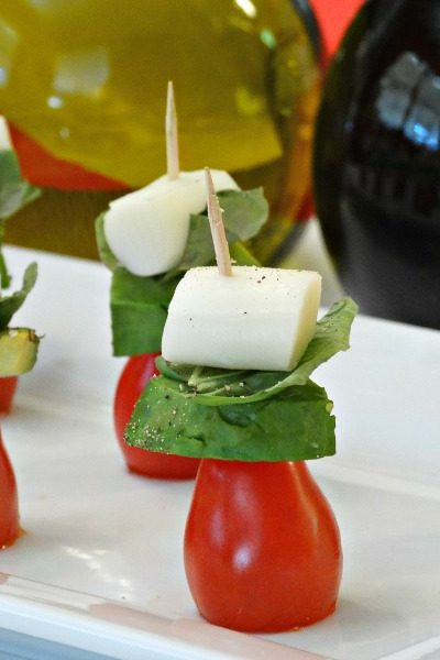 Healthy Snack Ideas for Parties + Caprese Avocado Skewers Recipe