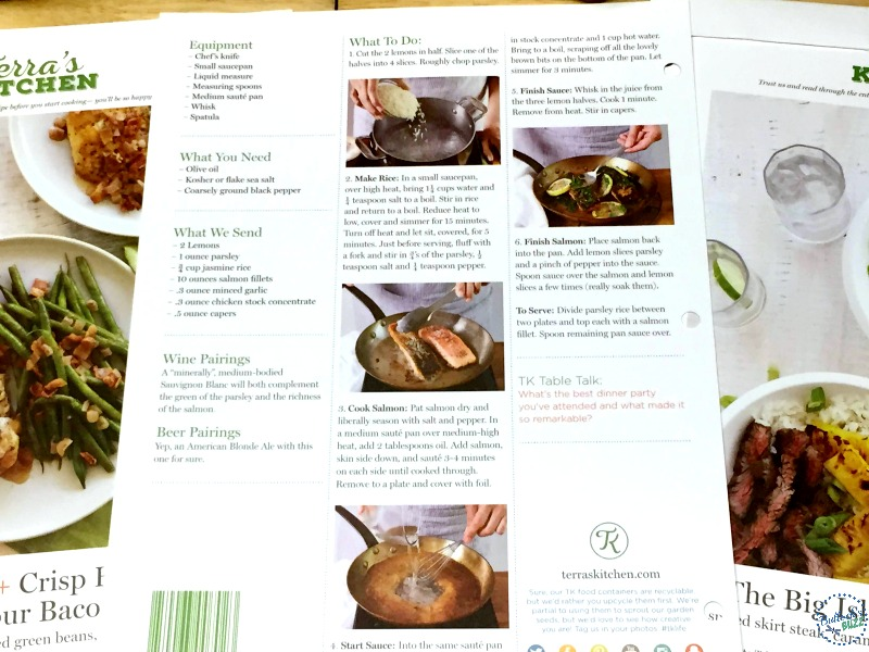 terras kitchen menu card close up