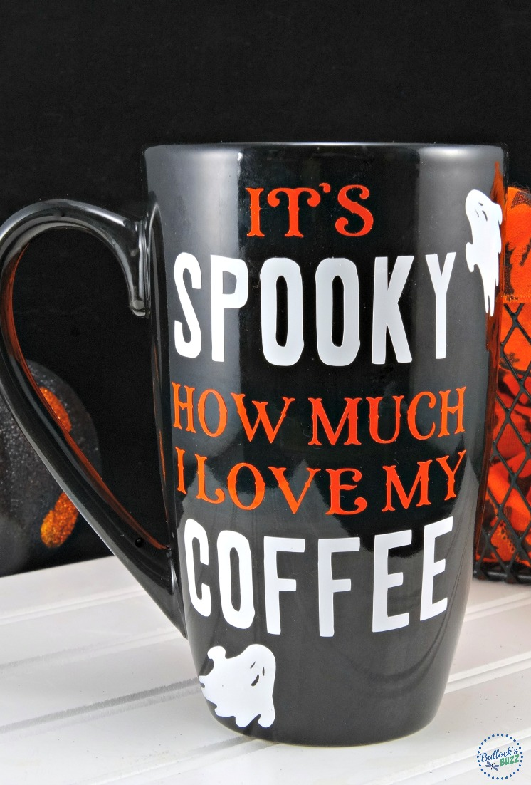 a fun diy Halloween coffee mug that's easy to make!