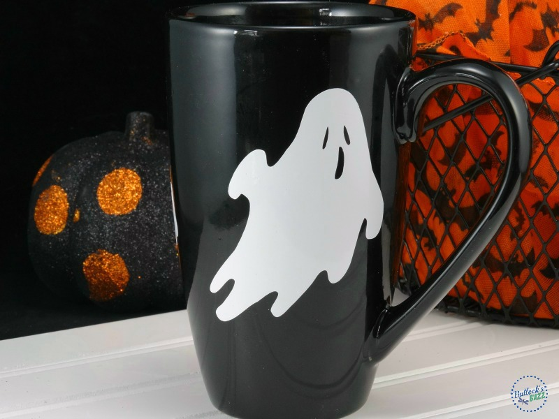 back side of diy halloween coffee mug